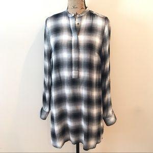 Rock & Republic Plaid Tunic Top Shirt Size Small